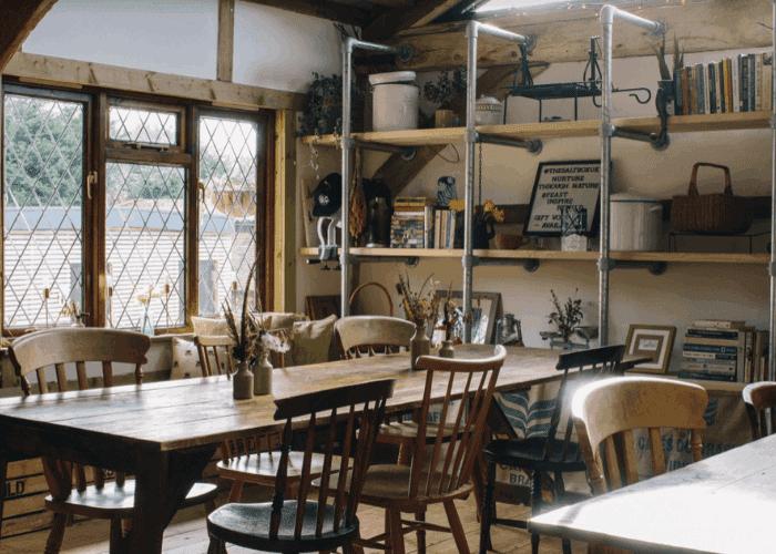 The Salt Box Barn - Inside red oak barn