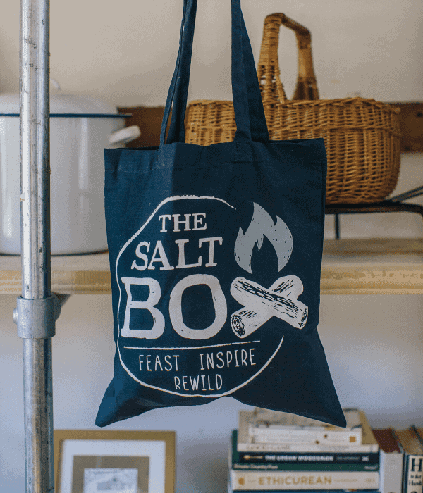 The Salt Box logo Tote Bag