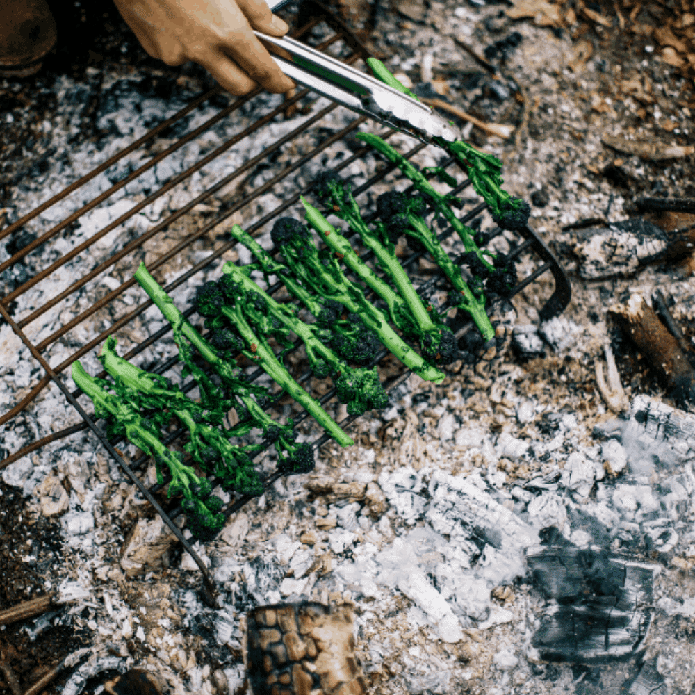 QUICK AND SIMPLE CHARRED PURPLE SPROUTING BROCCOLI