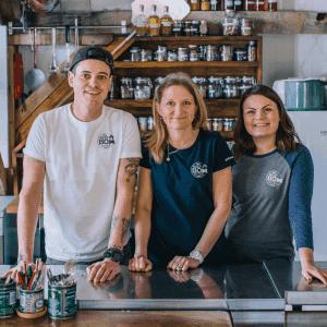 The Salt Box team, meet Flori, Beckie and Christian