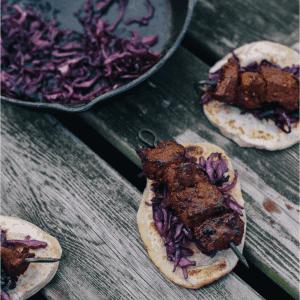 Gochujang Venison Kebabs