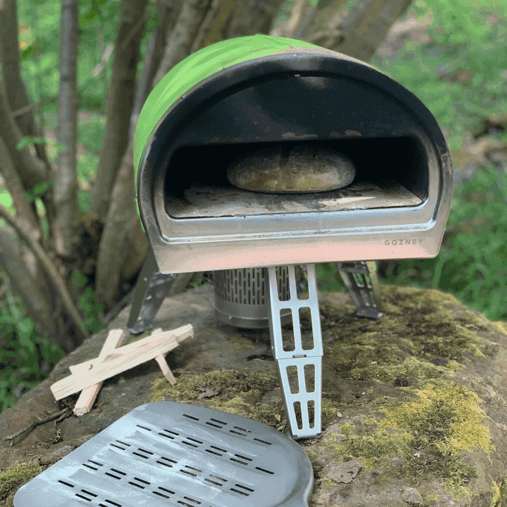 Pizza Oven Moroccan Khobz Bread with Zaalouk