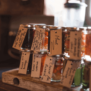 jars of pickles at The Salt Box