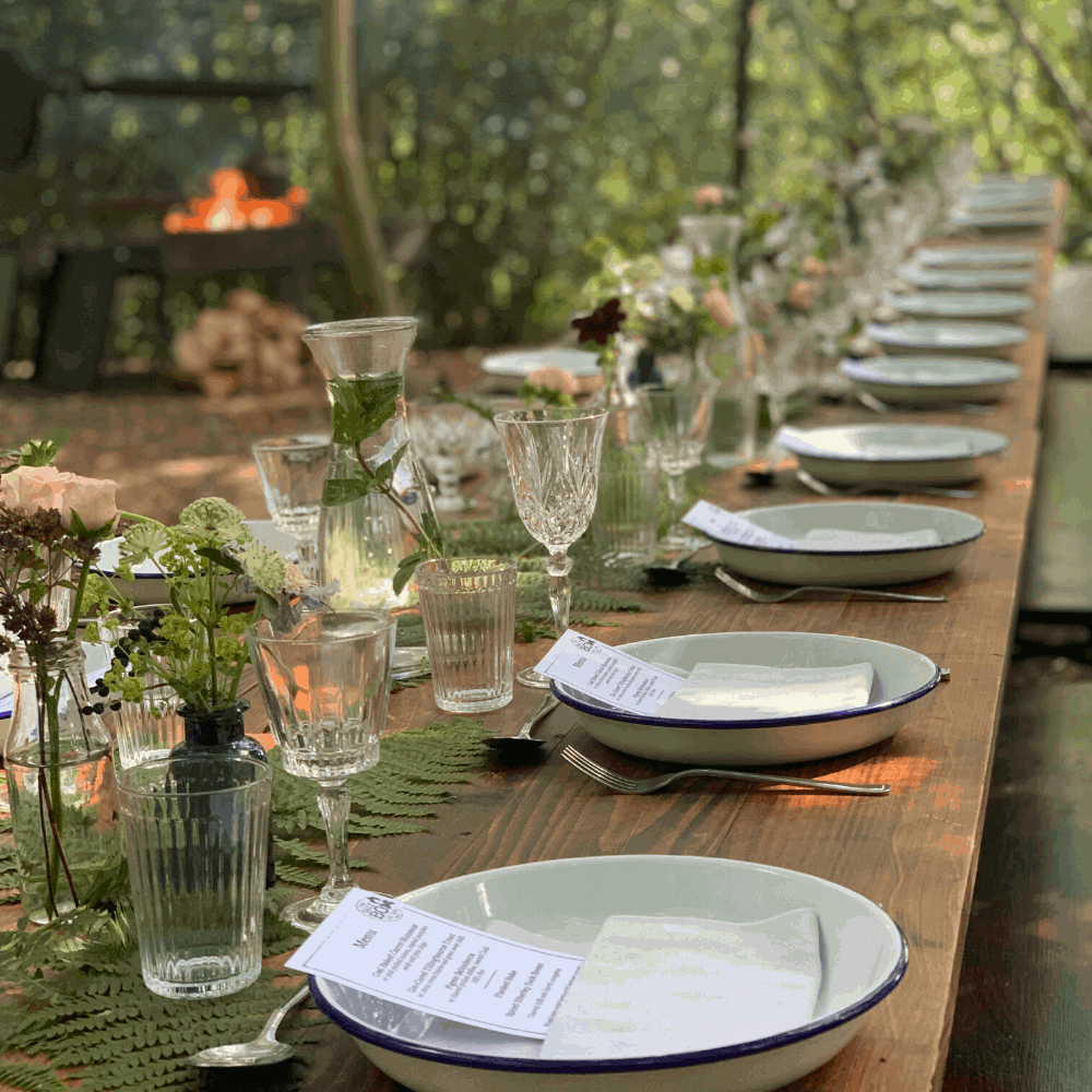 Woodland Dining Table at a The Salt Box Supper Club