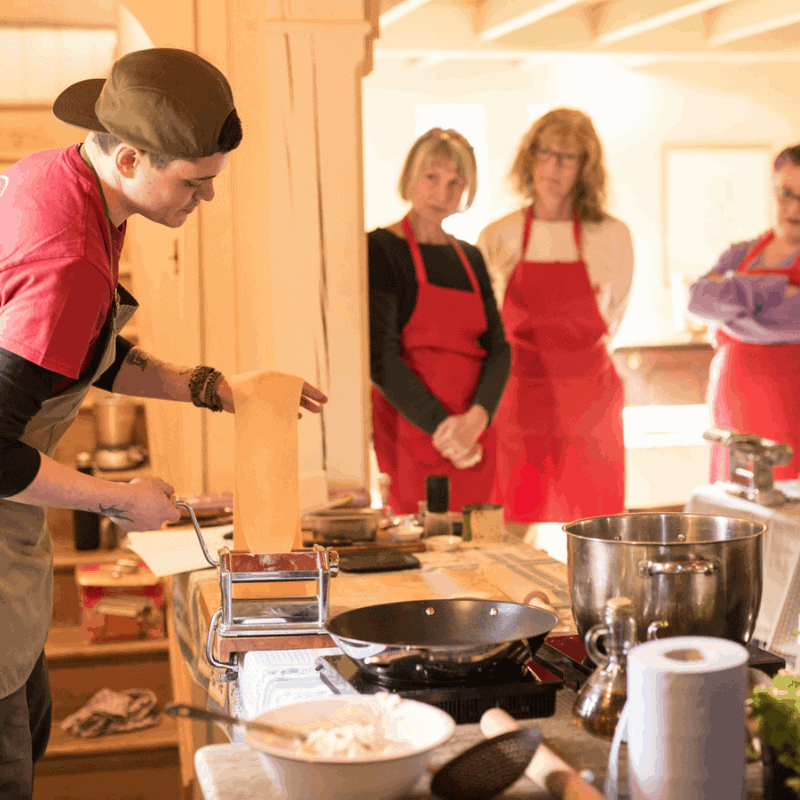 Learn how to make homemade pasta cookery course