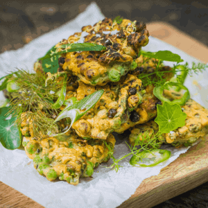 The Salt Box - Nettle and Pea Fritter Recipe