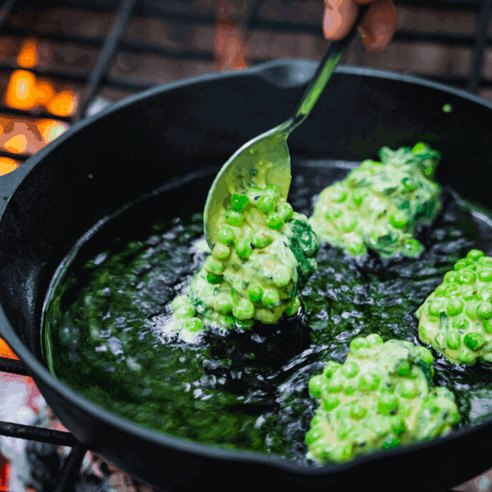 The Salt Box - Nettle and Pea Fritter Recipe 4