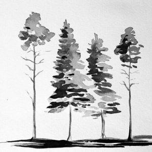 Woodland Inks Workshop with Surrey Art School