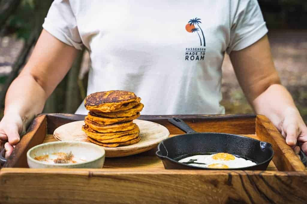 Sweet Potato Pancakes, Coal Baked Sweet Potato, Fire Breakfasts, Cooking Over Fire