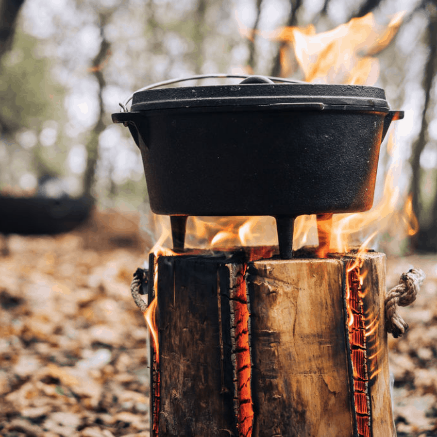 Cowboy Boston Baked Beans Recipe, cooked over fire, campfire beans recipe