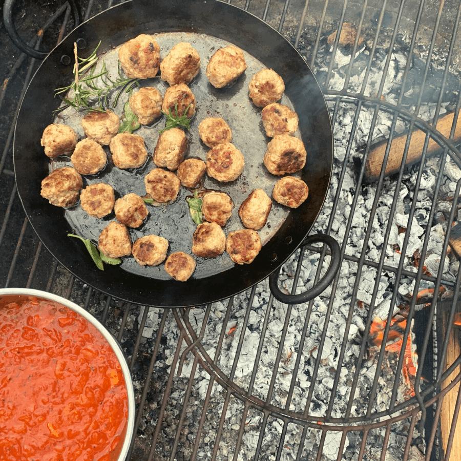 meatballs, pheasant, wild game, family feast