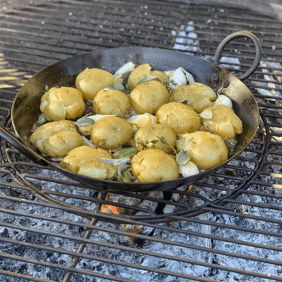 potatoes, squashed potatoes