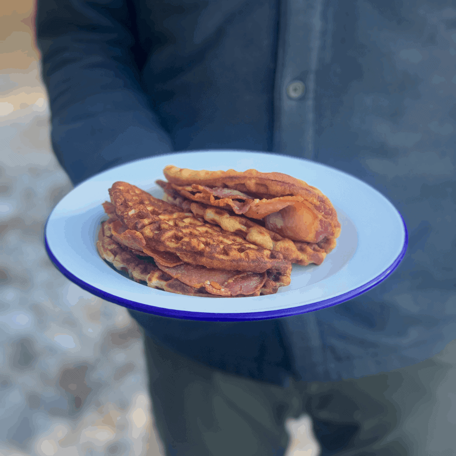 waffle, waffles, breakfast, brunch, bacon