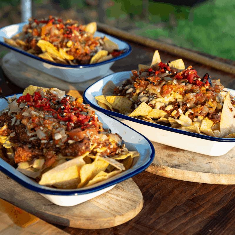 venison, wild game, nachos